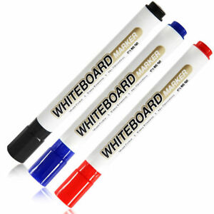 White Board Whiteboard Marker Pens Dry Erase Easy Wipe Round Bullet Tip Supply