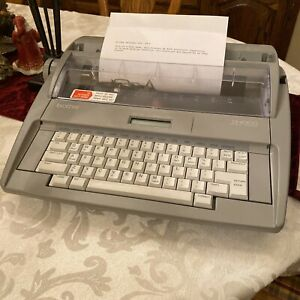 Brother Sx 4000 Electronic Typewriter Lcd Display With Keyboard Cover Tested Euc