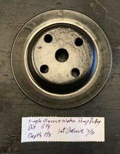 Mopar Single Groove Water Pump Pulley 5 1 4 1 1 8 Inch See Pics For More Detail