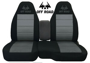 60 40 Hi Back Seat Covers Made To Fit 04 12 Ranger Blk Charcoal W Offroad Logo