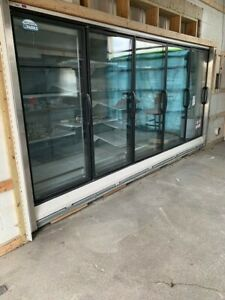 Commercial 5 Door Cooler With Condensing Unit Hussmann Brand 13 2x81x43 1 2