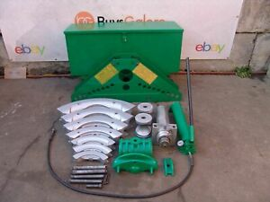 Greenlee 885 Hydraulic Rigid Pipe Bender 1 1 4 To 5 Inch Works Great 12 7 19