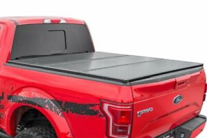 Rough Country Hard Tri Fold Fits 2015 2020 Ford F150 8 Ft Bed Tonneau Cover