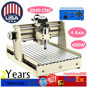 4 Axis 400w 3040 Cnc Router Engraver Engraving Drilling Milling Machine Desktop