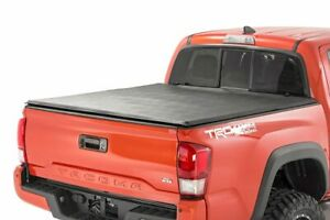 Rough Country Soft Tri fold Fits 2016 2020 Toyota Tacoma 5 Ft Bed Tonneau Cover
