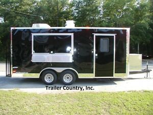 New 8 5x18 8 5 X 18 Enclosed Concession Food Vending Bbq Trailer