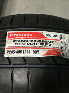 2 New 245 40 18 Firestone Firehawk Wide Oval Rft Run Flat Tires