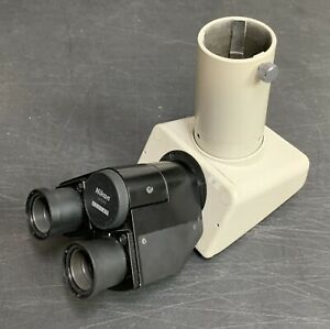 Nikon F Trinocular Microscope Head For Labophot Optiphot Alphaphot