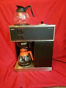 Bunn Vpr 12 cup Pourover Commercial Coffee Brewer 2 Glass Decanter Commercial