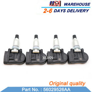 New 4pcs 56029526aa Tpms Tire Pressure Sensor For Dodge Jeep Chrysler 315mhz