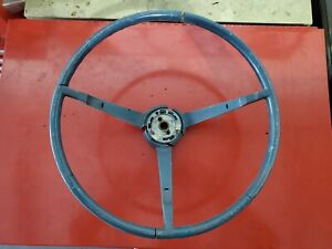 65 66 Ford Mustang Standard Blue Steering Wheel Assembly Oem Pony Tri Bar