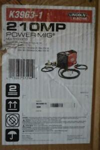 Lincoln Electric Power Mig 210 Mp Multi process Welder k3963 1 New Free Ship