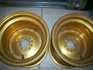 Vintage Gold Cragar Supertricks Auto Drag Wheels 15x12 4 Bs Ford Gm Pattern Nos