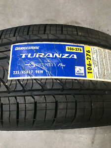 2 New 235 45 17 Bridgestone Turanza Serenity Plus Tires