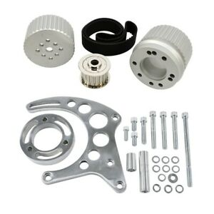 Sbc Billet Aluminum Gilmer Belt Drive Pulley System With Alternator Bracket