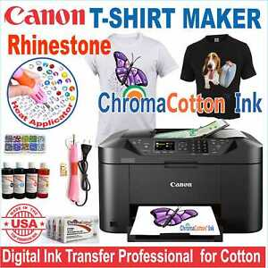 Canon Printer Machine Heat Transfer Ink X Cotton T shirt Rhinestone Start Kit