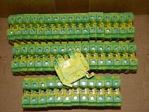 New Lot Of 46 Eaton Ut 35 pe Din Rail Terminal Block 3044241 Phoenix Contact