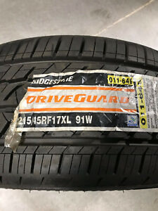 4 New 215 45 17 Bridgestone Drive Guard Run Flat Tires