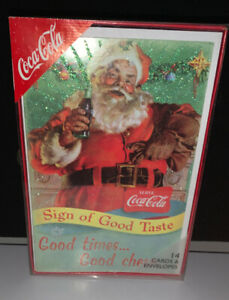 Coca-Cola Holiday Santa Cards Lot Of 14 With Envelopes