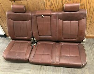 2009 2010 Ford F 150 Crew Cab King Ranch Brown Leather Rear Oem Bench Seat