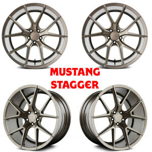 20 Verde V99 Axis Bronze Staggered Wheels For Mustang Gt Ecoboost