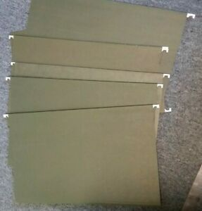 200 Pendaflex Recycled Hanging File Folders Size Legal Green 1 5 Cut Used
