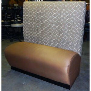 Restaurant Booth Bench Chair Single Section Caramel Brown 46x24x48
