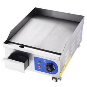 1500w 14 Electric Countertop Griddle Adjustable Temp Control Restaurant Grill
