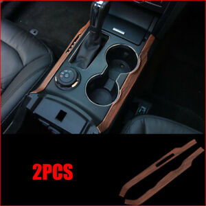 For Ford Explorer 2013 2018 Wood Grain Center Console Stripe Decorative Trim