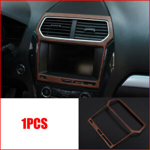 For Ford Explorer 2013 2018 Peach Wood Grain Inner Center Console Gps Panel Trim