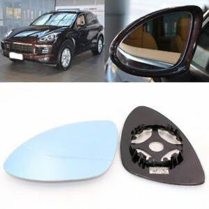 Rearview Mirror Blue Glass Side Mirror Wide Angle Heated For Porsche Cayenne