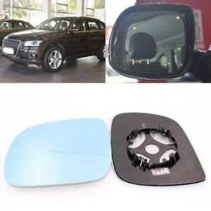 Rearview Mirror Blue Glass Side Mirror Wide Angle Heated For Audi Q5 2009 2017