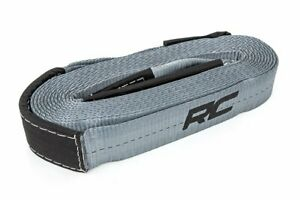 Rough Country 30 Ft Winch Strap 2 5 Wide Rated 16 000 Lbs Rs120