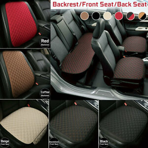 Flax Car Seat Cover Protector Front Seat Back Rear Cushion Pad Mat Breathable