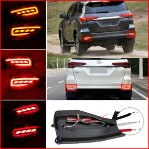 For Toyota Fortuner 2015 2016 Tail Bumper Warning Lights 2pcs Led Rear Fog Light