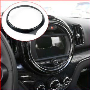 For Mini Cooper Countryman F60 Carbon Fiber Inner Multimedia Decor Circle Trim