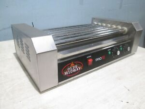 olde Midway Heavy Duty Commercial Counter top Hot Dog Ss Roller Grill
