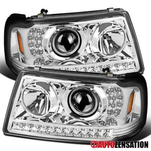 For 2001 2011 Ford Ranger Clear Projector Headlights Lamps W Led Drl Strip Pair