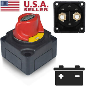12v Battery Isolator Disconnect Rotary Switch Cut On Off For Marine Boat Car Atv