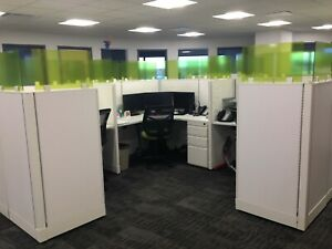 Used Office Cubicles Open Plan O2 5x5 Cubicles