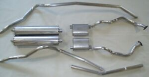 1964 Ford Galaxie Convertible Dual Exhaust Aluminized With Resonators 352 390