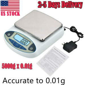 5000g X 0 01g Lab Analytical Balance Digital Precision Electronic Scale wei