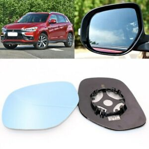 Rearview Mirror Blue Glass Side Mirror Wide Angle Heated For Mitsubishi Asx 2016
