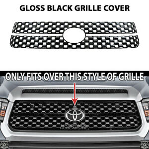 For 2018 20 Toyota Tundra Sr 5 Platinum Black Snap On Grille Overlay Front Cover