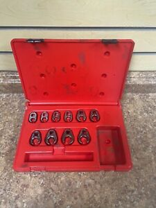 Matco Tools Srbcfnm10b 3 8 Dr Metric 10 Piece Crow Foot Flare Nut Wrench Set