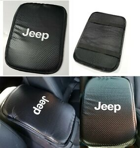 For Jdm Jeep Racing Carbon Car Center Console Armrest Cushion Mat Pad Cover X1