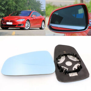 Rearview Mirror Blue Glass Side Mirror Wide Angle Heated For Tesla Model S