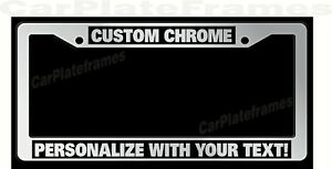Chrome Plastic Personalized License Plate Frame Color Font Choice