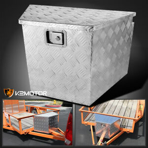 29 Heavy Duty Aluminum Tool Box Underbody Storage Truck Trailer Tongue keys