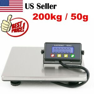 440lb 200kg 50g Digital Postal Scale Lcd Display For Shipping Weight Postage